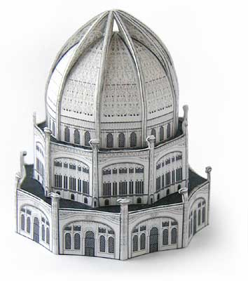 Bahai Temple model Bahai Temple