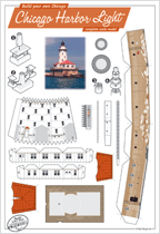 Chicago Harbor Light card